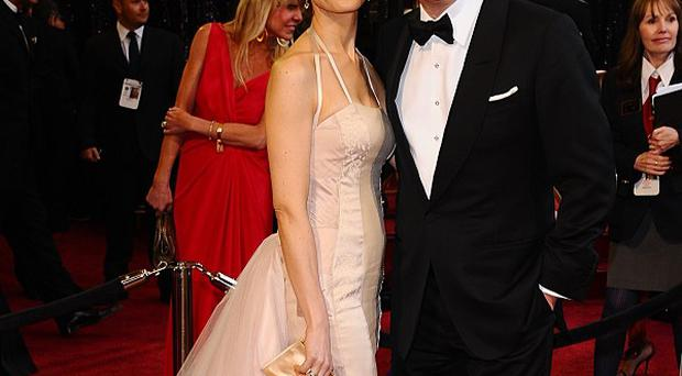 Colin Firth and wife Livia arrive for Oscars night