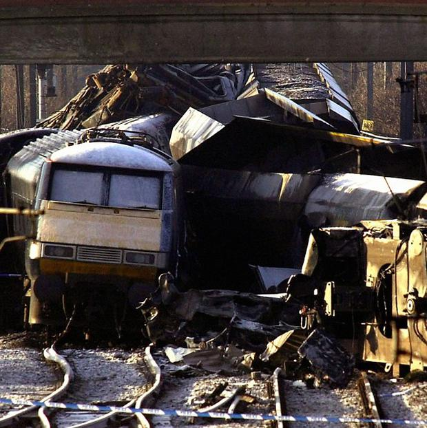 The scene of the rail crash at Great Heck near Selby on February 28, 2001