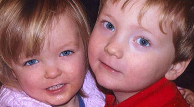 The bodies of two-year-old Elise Donnison (left) and her brother Harry, three, were found in the boot of a car