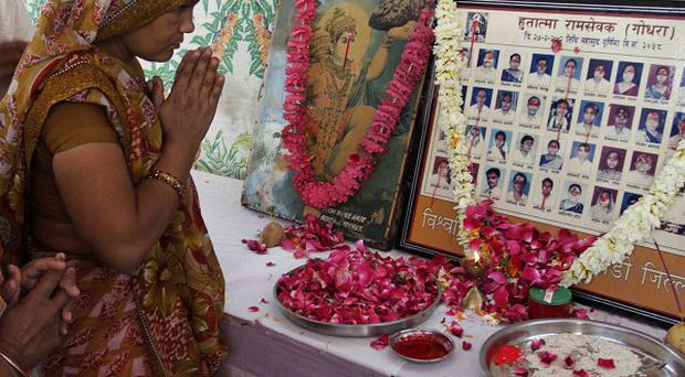 The victims of the 2002 Godhra train burning are remembered during a homage ceremony