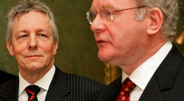 DUP leader Peter Robinson and Sinn Fein's Martin McGuinness have congratulated Enda Kenny on his success