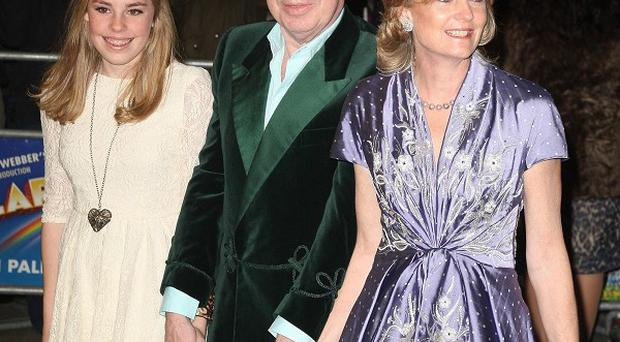 Sir Andrew Lloyd Webber and his wife Madeleine and daughter Isabella attended The Wizard Of Oz