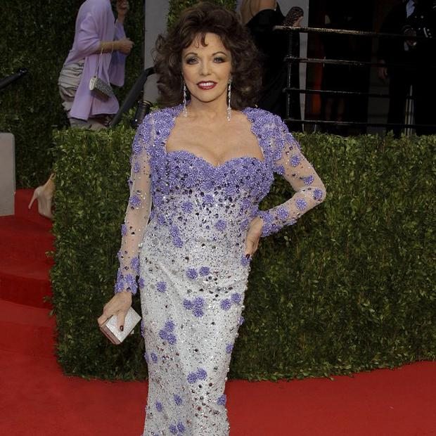 Joan Collins said her Oscars night dress led to a medical drama