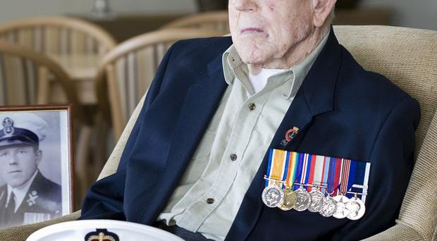 First World War veteran Claude Choules sits in the Gracewood Retirement Village in a suburb of Perth, Western Australia (AP)