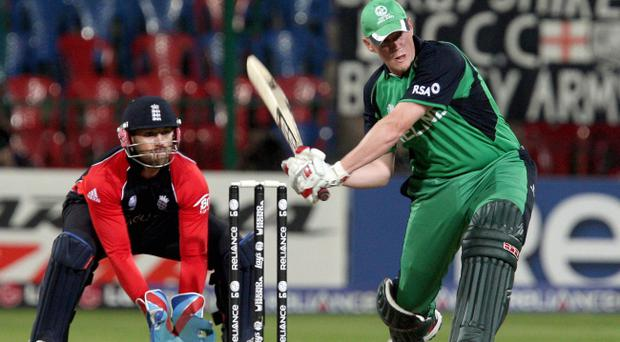 Ireland's Kevin O'Brien in action