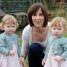 Amelie and Ava Higgins with their mother Elizabeth
