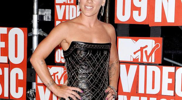 Pink has joked about Christina Aguilera on Twitter