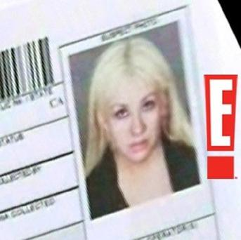 E! News released this mugshot following Christina Aguilera's arrest