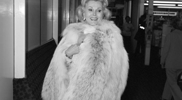 Zsa Zsa Gabor's right leg was amputated because of gangrene