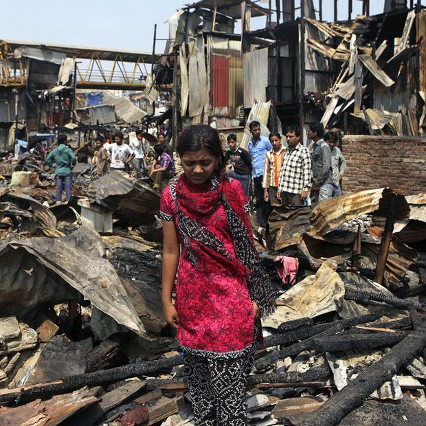Slumdog Millionaire child star Rubina Ali said her home was destroyed when a fire tore through a Mumbai slum