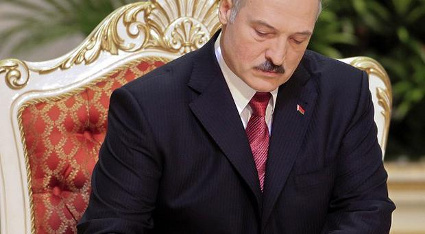 Britain has condemned Belarussian leader Alexander Lukashenko over the crackdown on his political opponents (AP)
