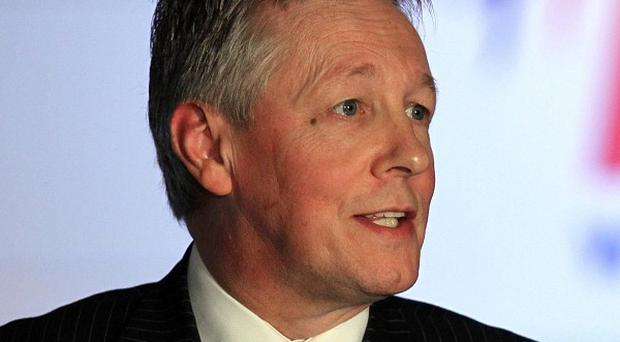 First Minister Peter Robinson will address a trade seminar in the US
