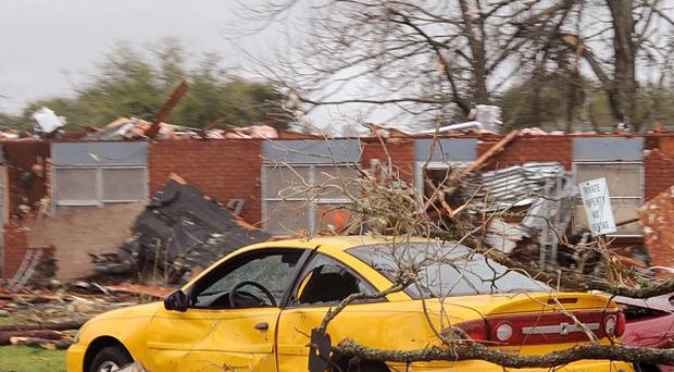 A tornado damaged more than 100 homes in Rayne, Louisiana (AP)