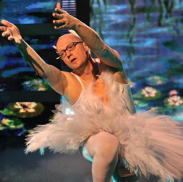 Ade Edmondson wowed the public with his comedy dance routine