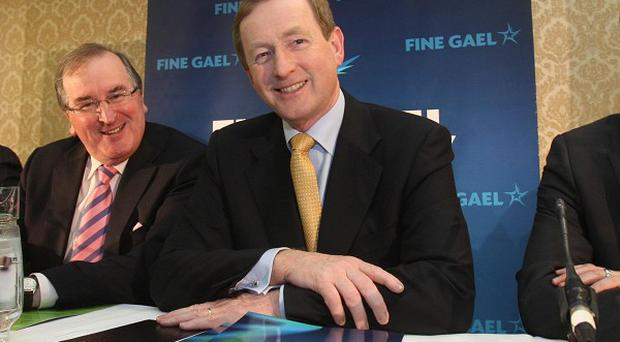 Fine Gael leader Enda Kenny attends his first parliamentary party meeting at the Shelborne Hotel in Dublin