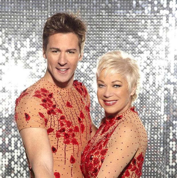Denise Welch with partner Matt Evers have been voted off Dancing On Ice
