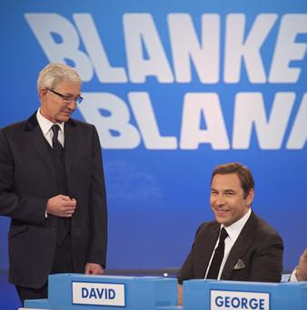 David Walliams takes part in Blankety Blank as part of his panel show stint