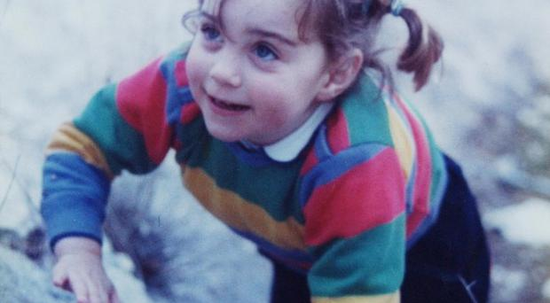 Kate Middleton aged three while on holiday in the Lake District (Middleton Family/PA Wire)