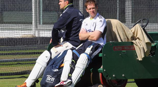 Kevin Pietersen (left) has been ruled out of the World Cup and his career looks to be on the slide, while Irishman Eoin Morgan is jetting in to boost England