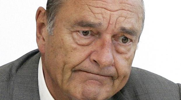 Former French president Jacques Chirac is on trial for corruption (AP)