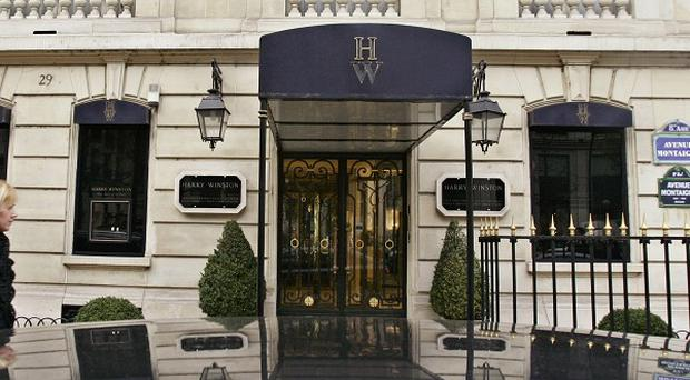 The Harry Winston jewellery store near the Champs-Elysees in Paris - the scene of an audacious heist (AP)