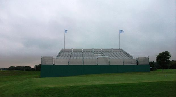 The grandstand seating that will be used at the North West 200 which is the same as that used at London 2012