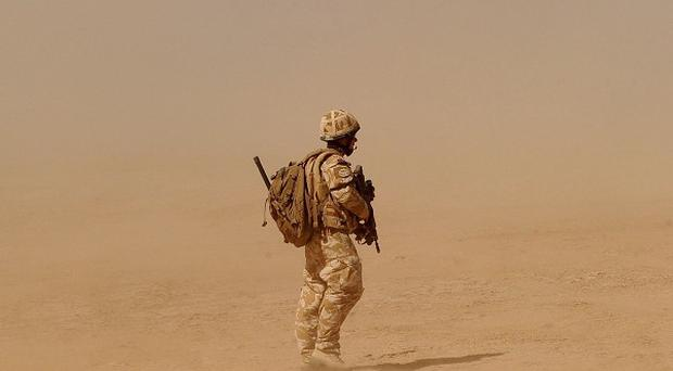 A British soldier was killed in southern Afghanistan after his vehicle hit a roadside bomb