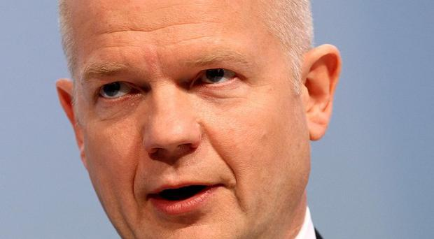 The international community could move 'very, very quickly' to send warplanes to Libya, Foreign Secretary William Hague said