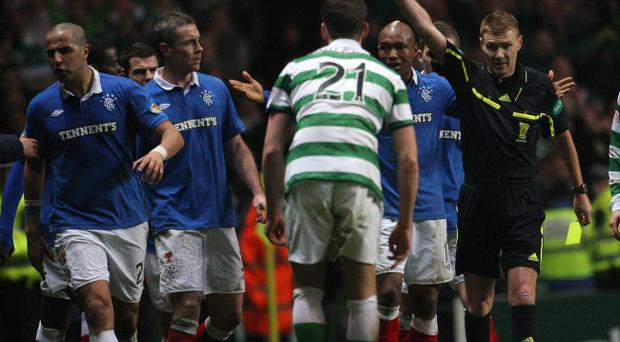 Tempers boiled over during last week's Old Firm clash at Celtic Park, with Rangers defender Madjid Bougherra one of three players to be red carded