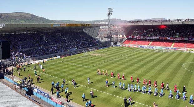 Major improvements are on the way for Windsor Park (pictured), Ravenhill and Casement, all the way down to grassroots level in the three sports