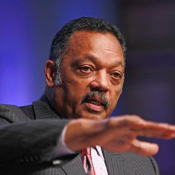 The Reverend Jesse Jackson speaking in Dublin