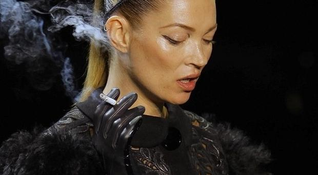 Kate Moss took her cigarette onto the catwalk