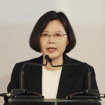 Opposition leader Tsai Ing-wen announces her bid for candidacy in the 2012 Taiwan presidential elections (AP)