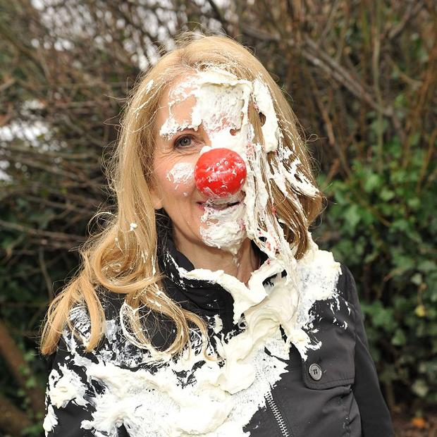 Gillian McKeith gets covered in cream cake thanks to Barbara Windsor