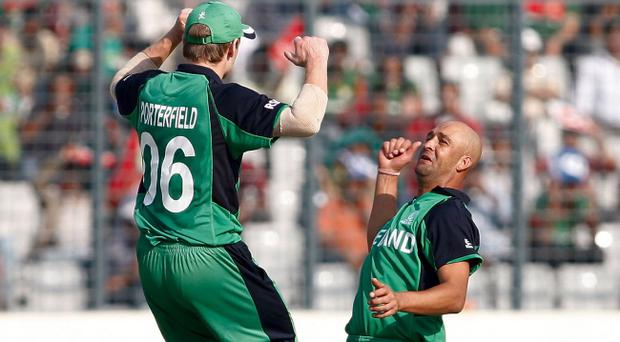 Andre Botha (right) was in awe as he perused the Eden Gardens venue where Ireland will face his native South Africa tomorrow