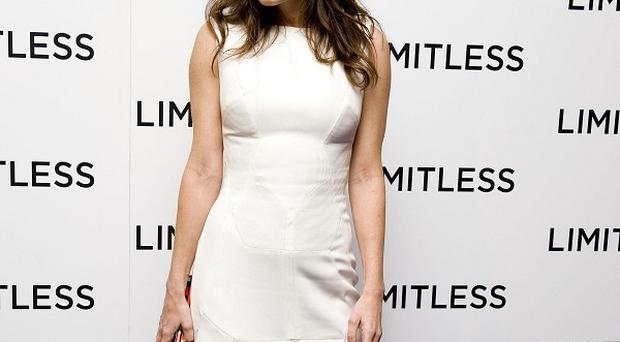 Anna Friel arrives for a screening of her new film, Limitless