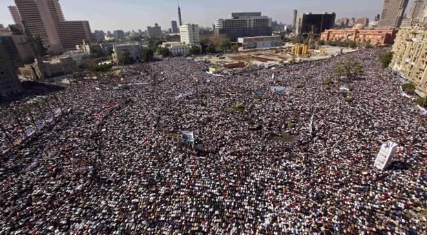 Tahrir square in Cairo, Egypt, scene of protests against President Hosni Mubarak