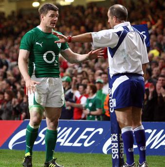Brian O'Driscoll (left) and Jonathan Caplan