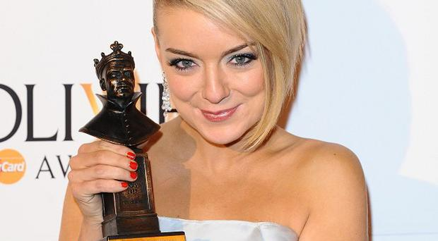 Sheridan Smith was tearful as she accepted her Olivier Award