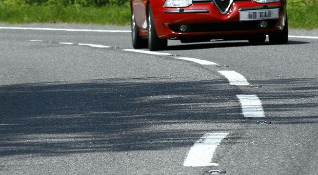 Road markings on some of Britain's most dangerous routes are worn away, a study says