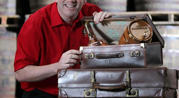 Bushmills master distiller Colum Egan, who is helping the distillery pack up and hit the road