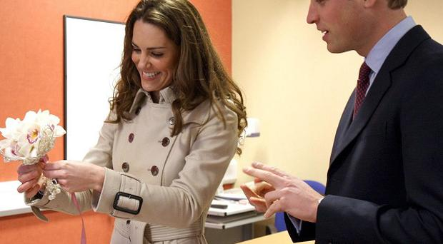 Prince William and Kate Middleton at Greenmount College, Co Antrim