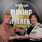 Best Volunteer award presented by Majella McCloskey, Director CO3 along with winner Pat McKay.