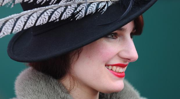 CHELTENHAM, ENGLAND - MARCH 16: Fashionable hats are the order of the day at Cheltenham Racecourse on Ladies Day on March 16, 2011 in Cheltenham, England. (Photo by Mike Hewitt/Getty Images)