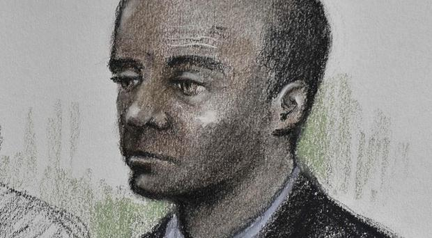 An artist's impression Delroy Grant, who is accused of being the Night Stalker rapist (Elizabeth Cook/PA)