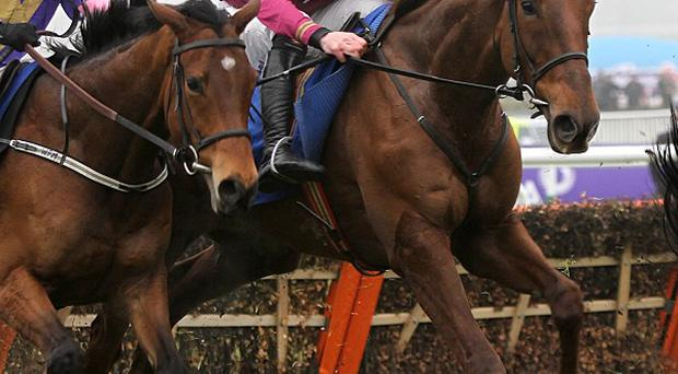 First Lieutenant (right) gets away from the last with plenty to do