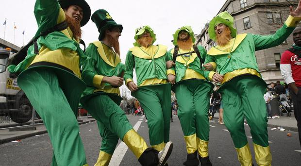 The annual St Patrick's Day parade takes place in Dublin. PRESS ASSOCIATION Photo. Picture date: Thursday March 17, 2011. Photo credit should read: Julien Behal/PA Wire