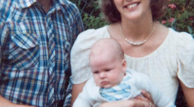 Joanne and Lowry Mathers with their son Shane a year before she was murdered by the IRA as she collected census forms in Londonderry in 1981