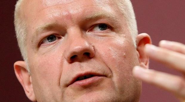 Foreign Secretary William Hague called for an end to new Israeli construction in the West Bank