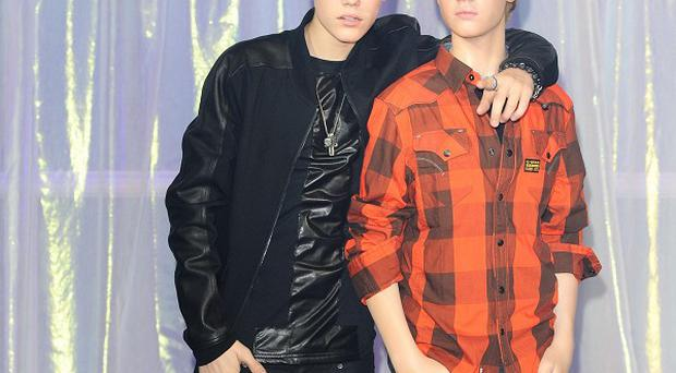 Justin Bieber unveils his new waxwork at Madame Tussauds in London